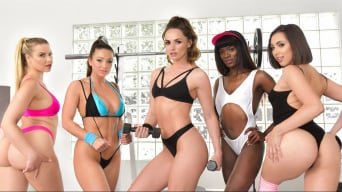 Anikka Albrite in 'Tori Black's Lesbian Gang Bang'